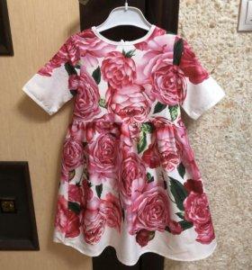 Платье принт D&G