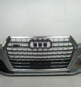 Бампер передний + решетка AUDI Q7 16- б/у 4M0807065DGRU 4M0853651JRN4  4*