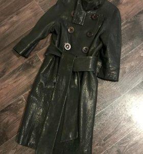 Кожаное пальто-кокон Vespucci