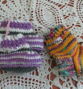 Вязаные носочки на малыша до 1 года