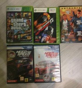 Игры Xbox 360 GTA 5 и NFS и на ПК