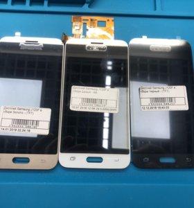 Дисплей для Samsung J1 2016 J120F Чёрный Белый Зол