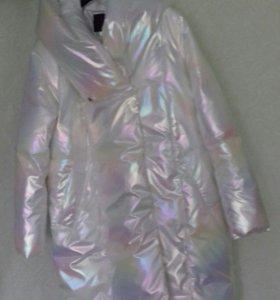 Пальто oversize перламутровое