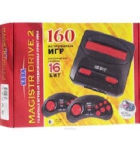 Sega Magistr Drive 2 lit 160 игр