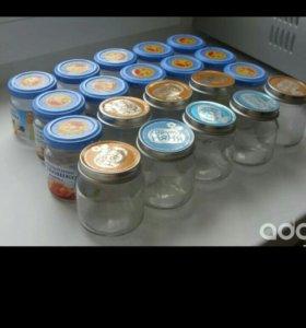 Стеклянные баночки из под детского питания