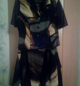 Костюм( юбка,блуза)