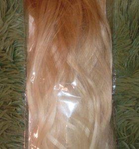 Накладные волосы на клипсах набор
