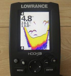 Эхолот Lowrance hook-3x с датчиком. + струбцина