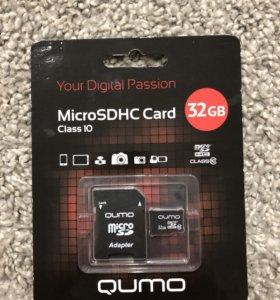 Карта памяти QUMO microSDHC 32Gb