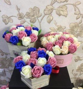 Подарочные наборы из мыльных роз