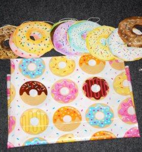 Скатерть + баннер пончики