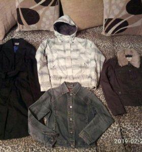Куртка плащ парка джинсовка пакетом
