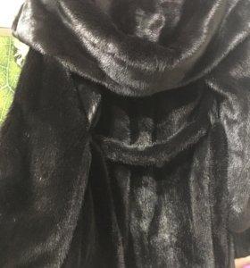 Шуба норковая. Чёрный бриллиант 42/44