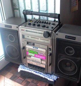 Магнитола Hitachi TRK-9140E из 80-х