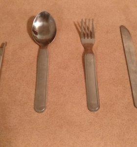 Набор ложка вилка нож открывашка
