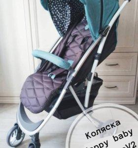 Коляска прогулочная Happy baby EleganzaV2 и рюкзак