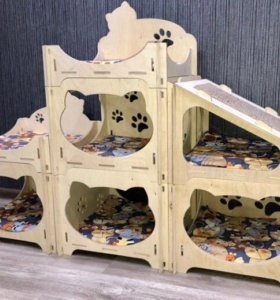 Супер домик-комплекс для кошки №6