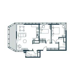 Квартира, 3 комнаты, 82.7 м²