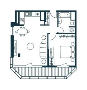 Квартира, 2 комнаты, 62.3 м²