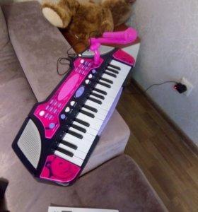 Детский синтезатор с микрофоном 🎶 🎤 🎹 🔌