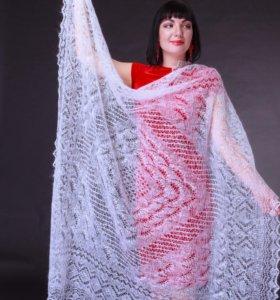 Оренбургский пуховый платок паутинка ручной новый
