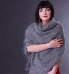 Оренбургский пуховый платок шаль ручной новый