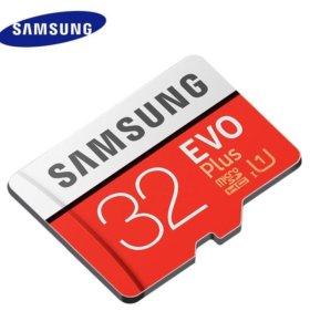 Карта памяти MicroSD 32 Гб Самсунг