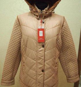 Куртка 56-58, 58-60 Жемчужно-бежевая Новая
