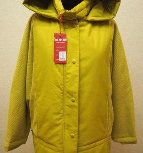 Куртка Весна 54,60 Горчичный Новая