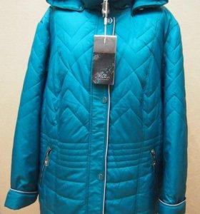 Куртка Весна р70 Бирюзовая Новая