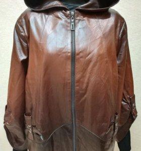 Куртка Экокожа Весна р56-58,62-64 коричневая Новая