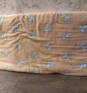Матрас и белье в кроватку