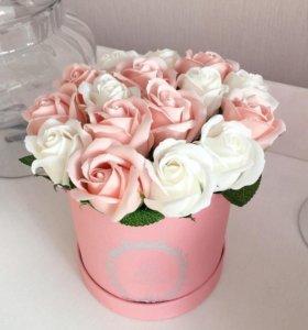 Цветы. Мыльные розы. Букет