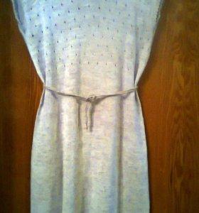 Платье . Вязаный лен.