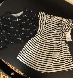 Комплект Платье-боди и кофточка Carter's 2t новый