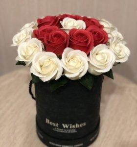 Букет из роз / розы из мыла