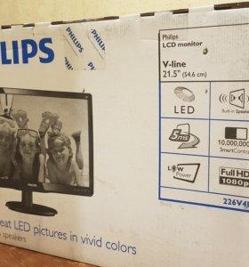 "Монитор 22"" новый Philips 226V4LA с динамиками"