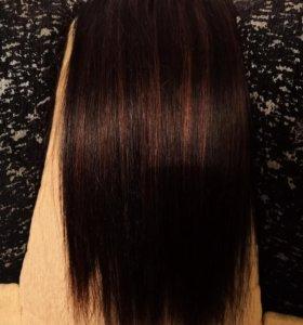 Волосы натуральные на заколках 55 см.