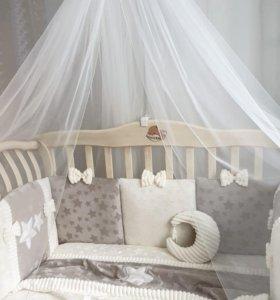 Набор в кроватку для новорожденных Плюш, 12 пр