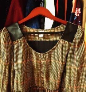 Платье из индийского шелка