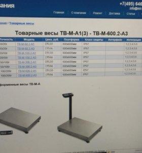 Весы электронные до 600 кг
