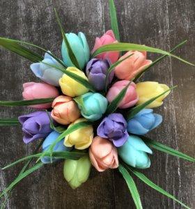 Мыльный букет из тюльпанов