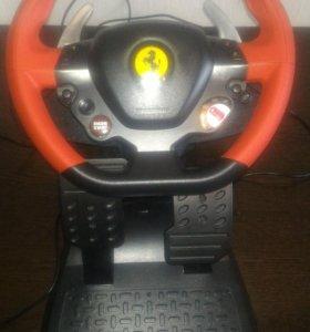игровой руль с педалями для икс бокс оне
