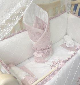 Набор в кроватку для новорожденных KARINA