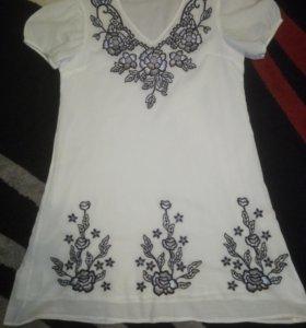 Белое платье Индия размер XL