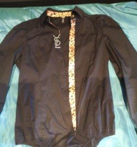 Женская блузка(батник)-боди размер 48