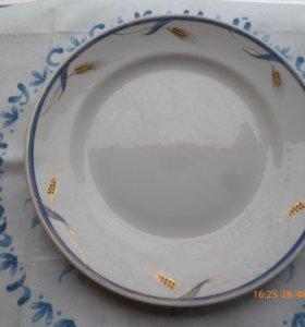 тарелка золотые колоски