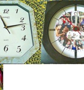 Часы настенные и часы с будильником точные рабочие