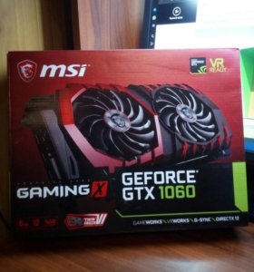 Видеокарта gtx 1060 6gb MSI gaming x