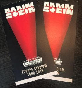 Два билета в танцпол Rammstein 29.07 Москва